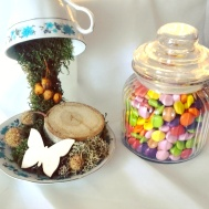 Candy Cart Sweets and Vintage Cup