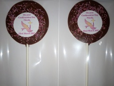 Confirmation Chocolate Lollipops