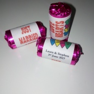 Just Married Love Hearts