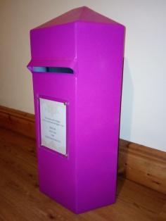Bespoke heavy steel post box