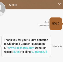 Text Donation